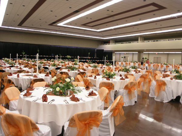 Centennial Hall will hold up to 850 guests for a seated reception