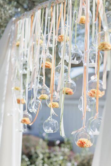 Wedding arbor decor