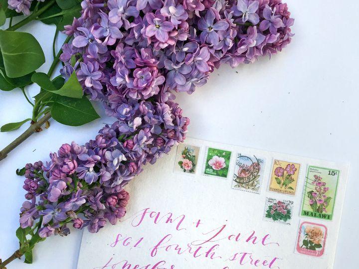 Tmx 1466537902713 Sam And Jane Purple Envelope Greensboro wedding invitation