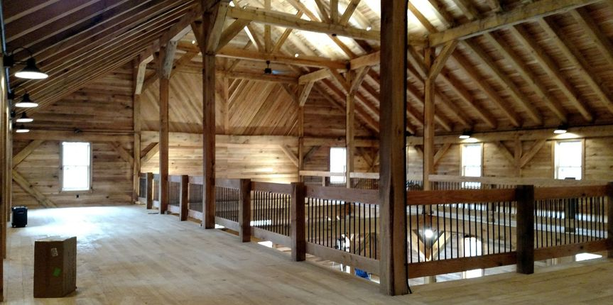 The barn's second floor