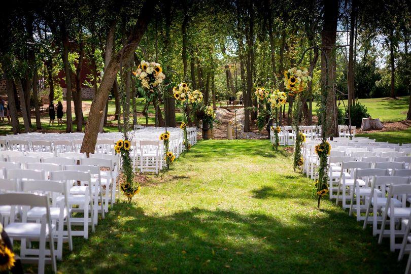Outdoor ceremony rentals.