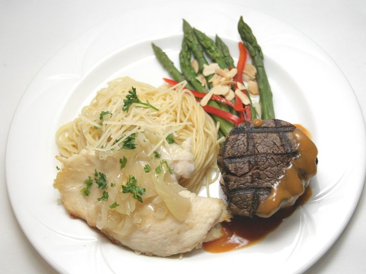 Tmx 1436470561119 Plated Beef  Chicken Indianapolis, IN wedding catering