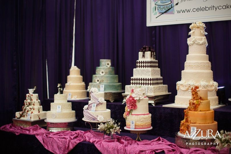 Wedding cake showcase