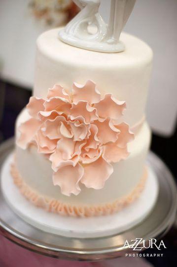 Blush floral details