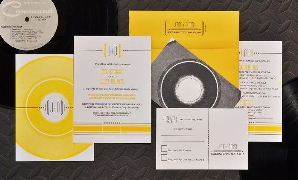 {custom} Vinyl Record :: 2 color. printed vinyl record with typeset text.