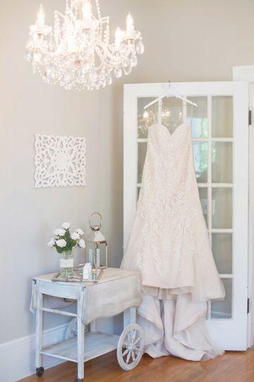 Bridal Gown in Ladies Parlour