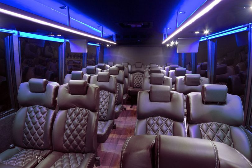 Transport your guests in our 19-22 passenger Executive Coach. Configured with plush upholstered...
