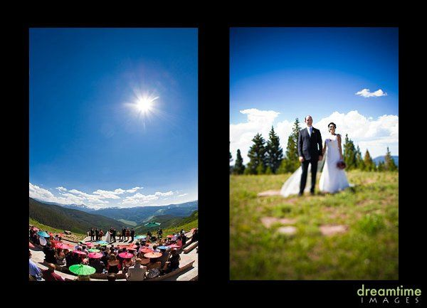 Gorgeous wedding on the Vail Wedding Deck.  Photos by Nathan Welton, Flowers by Secret Garden in...