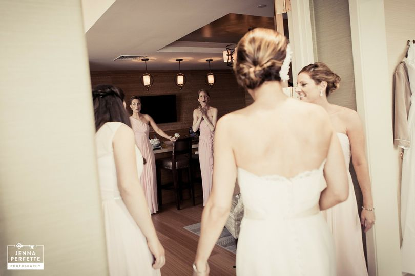 Bridal Party First Look - Perfette Wedding Photography