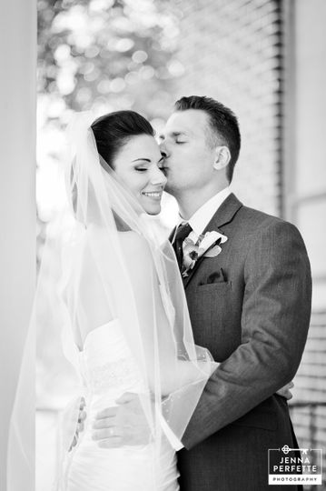 First Kiss as Husband and Wife - Perfette Photography
