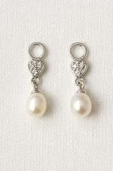Fresh Water Pearl Dangles  Set of two sterling silver, Czech crystal drops with freshwater pearls. A...