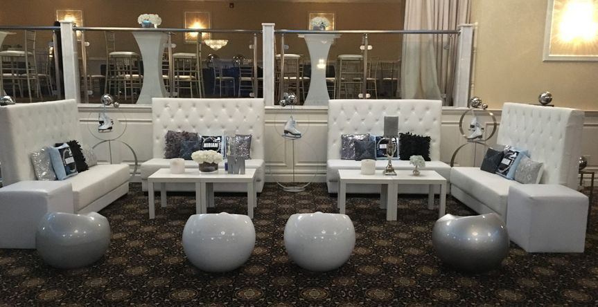 lounge decor for a Winter themed party