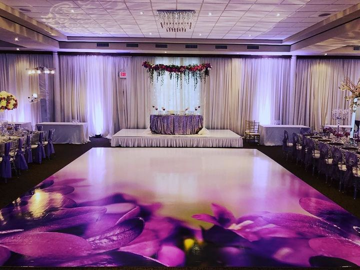 Reception dance floor design