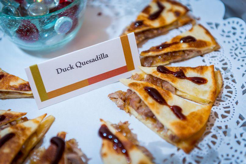Duck quesadilla