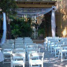 Outdoor covered wedding