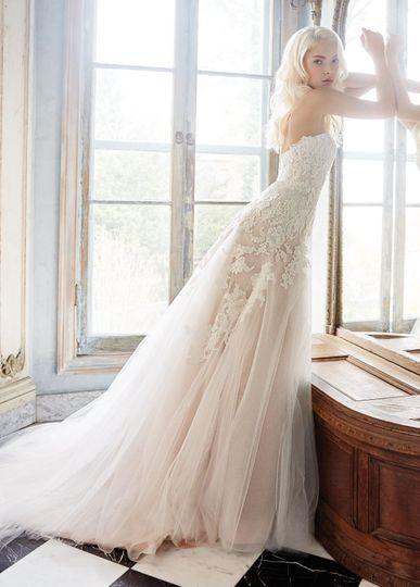 alvina valenta bridal tulle a line gown alencon la