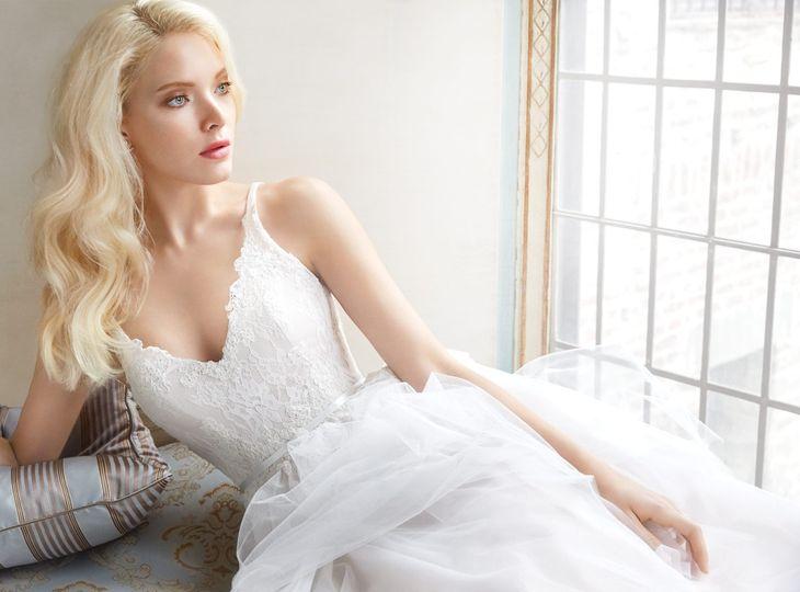 alvina valenta bridal tulle lace ball sheer v neck