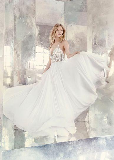 hayley paige bridal chiffon a line celestial beade