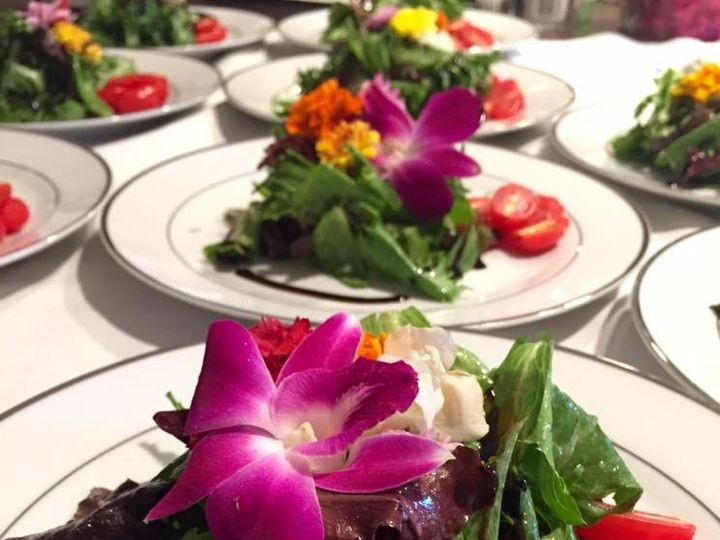 Tmx Plated Salad Garnished With Fresh Orchids 51 118492 158387508044323 Essex, MA wedding catering