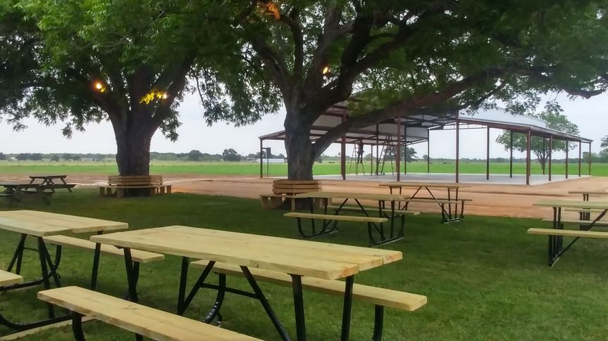 New benches around trees and new picnic tables.