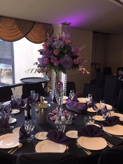 Purple themed venue