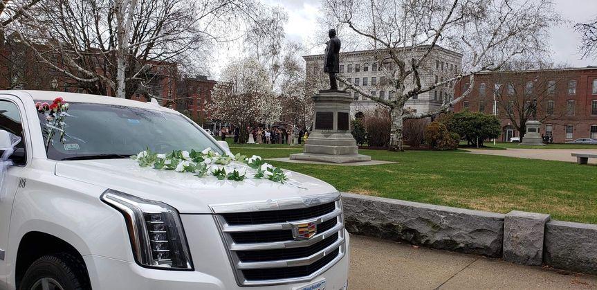 Cadillac limo for wedding