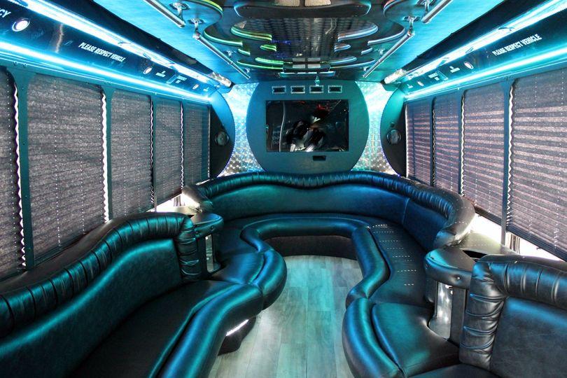 30 passenger Limo Interior