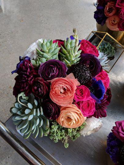 Jewel Tone tabletop floral