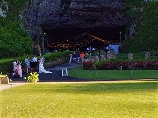 wedding guests cave entrance