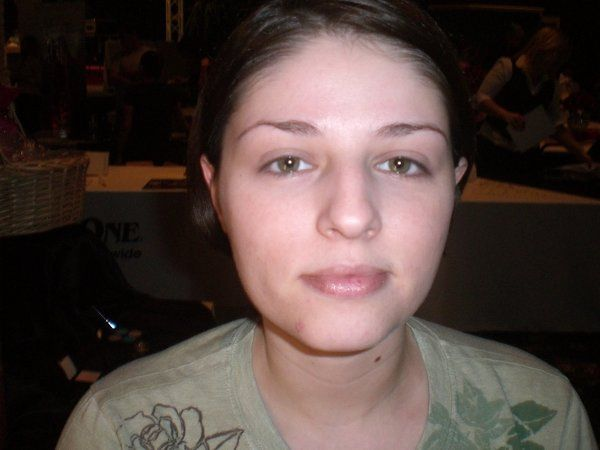This is Lauri before. She wanted her eyes to be the focal point, very defined, but she didn't want...
