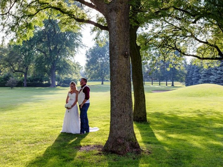 Tmx Bride And Groom In Middle Of Course Head Down With Sun K 51 570692 Wood Dale, IL wedding venue