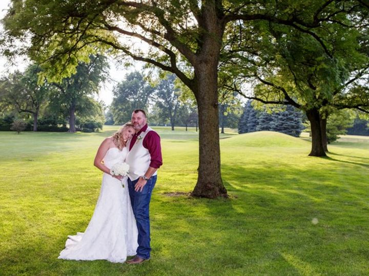 Tmx Bride And Groom On Course Head On Shoulder 2 K 51 570692 Wood Dale, IL wedding venue