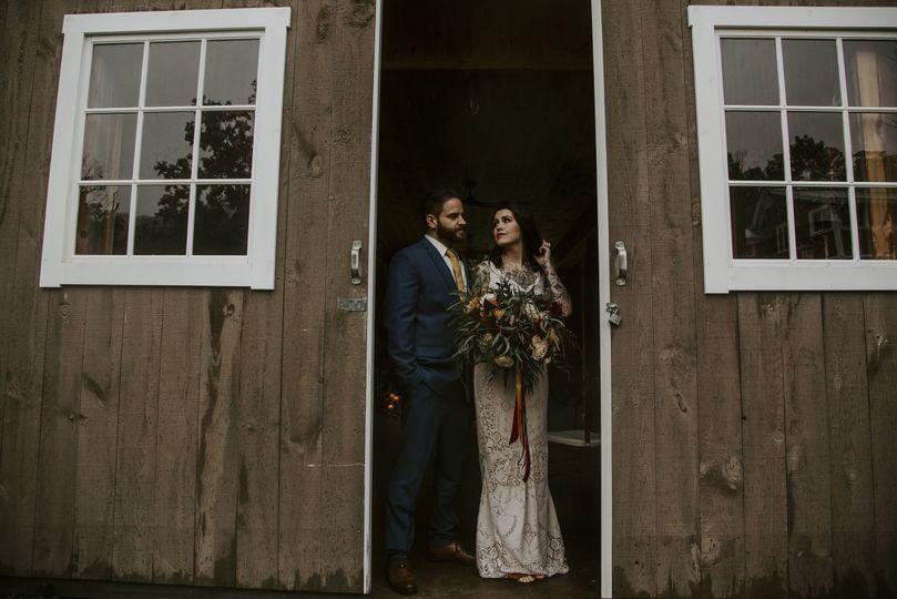 Couple by the door