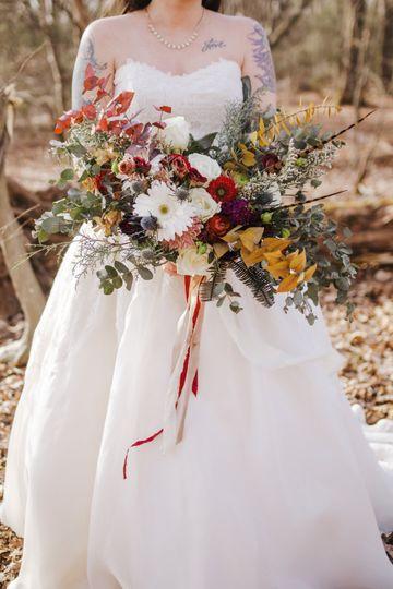 Large winter bridal bouquet