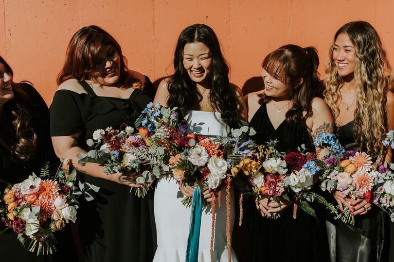 Industrial wedding flowers