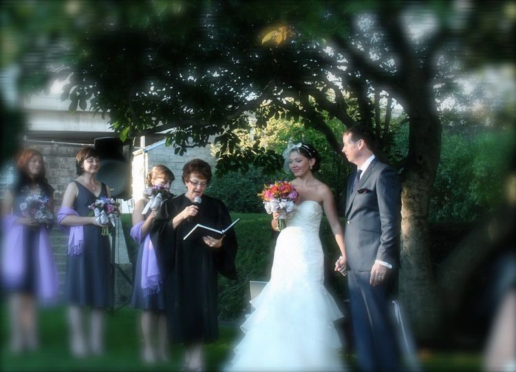 This wedding was performed at The Commandants House - Charlestown, Navy Yard