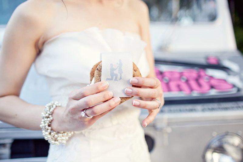 Our ice cream truck is a fun backdrop for wedding photos!