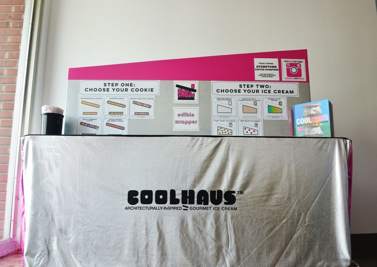 The Coolhaus pop-up bar set up was created to resemble our iconic ice cream truck. The table topper...