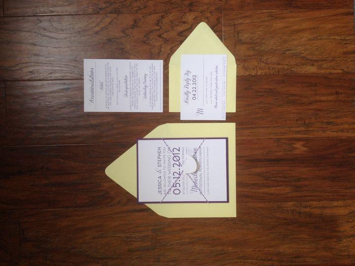 Tmx 1401463059189 Photo May 07 3 22 23 Pm Spring City wedding invitation