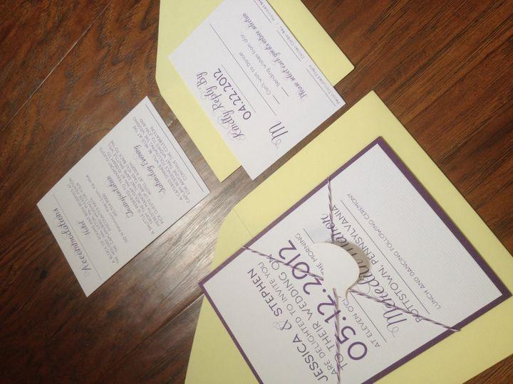 Tmx 1401463098038 Photo May 07 3 22 33 Pm Spring City wedding invitation