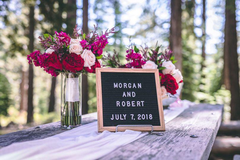 Sample wedding sign board