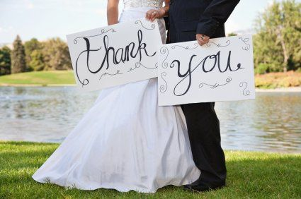 """Thank you"" from the couple"