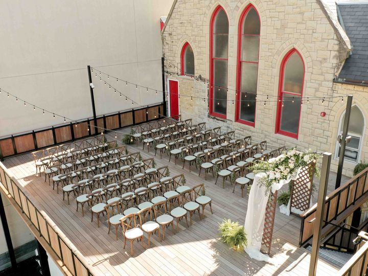 Tmx Hyde Terrace Ceremony Set Up Rendering View Facing Bell Tower 1 51 1016692 160157994486335 Milwaukee, WI wedding venue