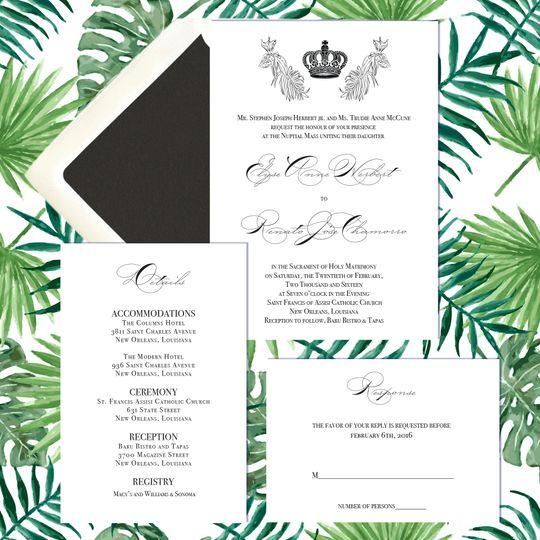 charmorro herbert custom invitations
