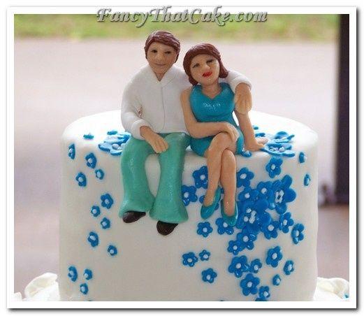 Tmx 1378764741375 40thweddinganniversarycakewhiteturquoise4 Jackson, MO wedding cake