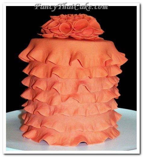 Tmx 1378764943531 Coral Ruffles And Dahlia 3 Jackson, MO wedding cake
