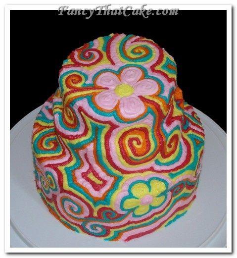 Tmx 1378765160808 Psychedelicflowers2 Jackson, MO wedding cake