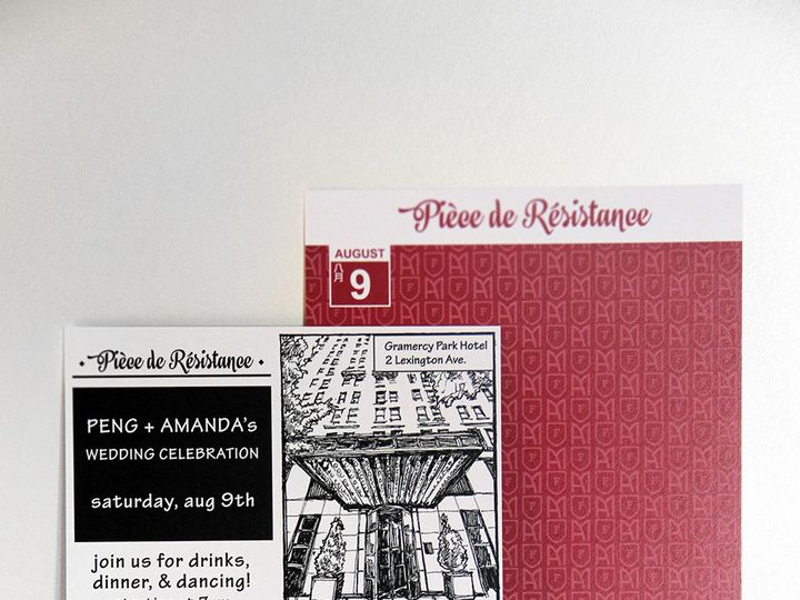 Tmx 1416245734868 Piece De R Woodside wedding invitation