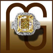 yellow dia ring