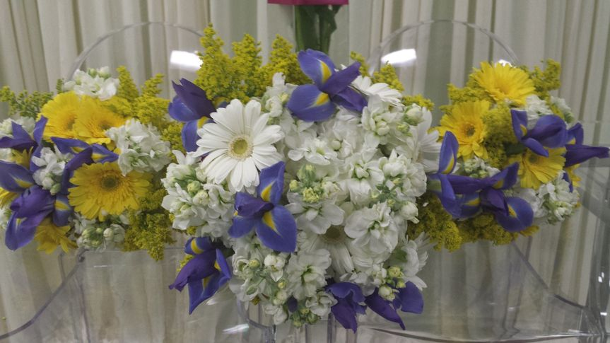 white yellow and blue wedding
